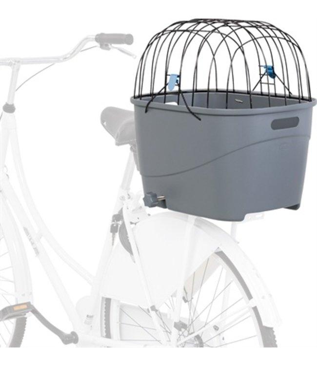 Trixie fietsmand voor bagagedrager met draadkoepel kunststof grijs