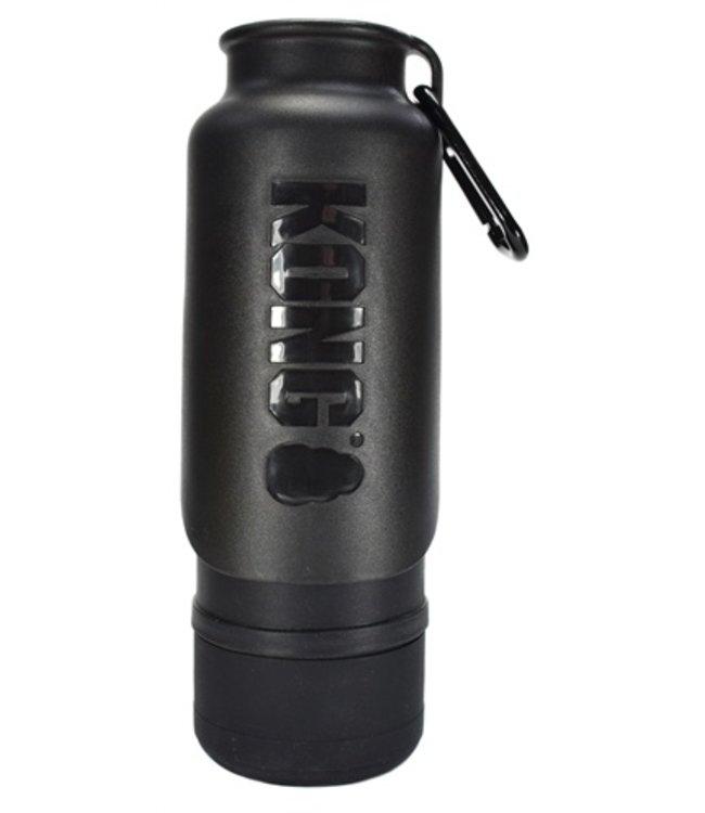 Kong h2o drinkfles thermos zwart