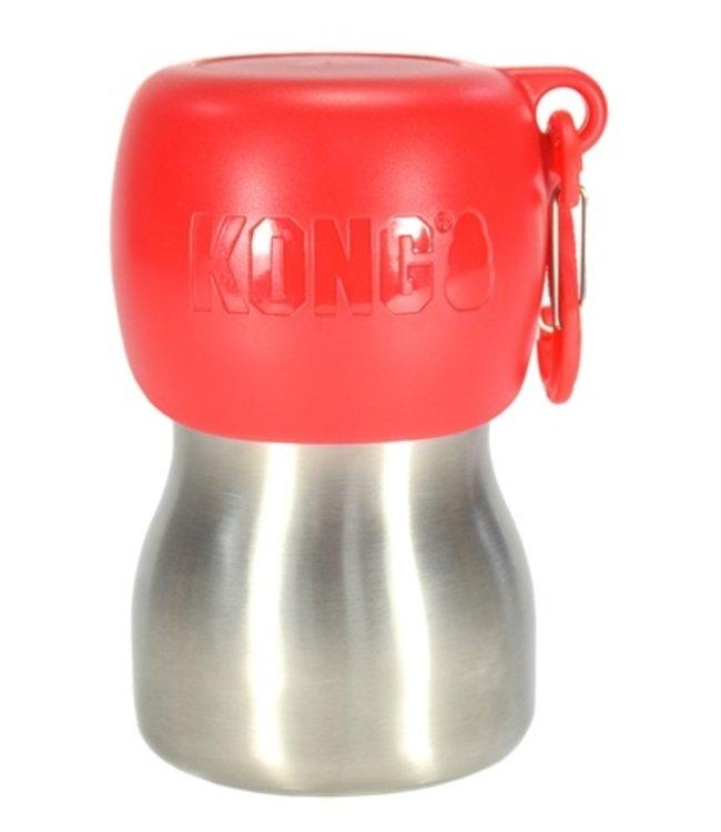 Kong h2o drinkfles rvs rood