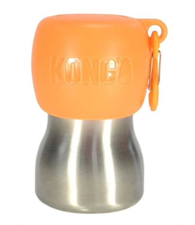Kong h2o drinkfles rvs oranje