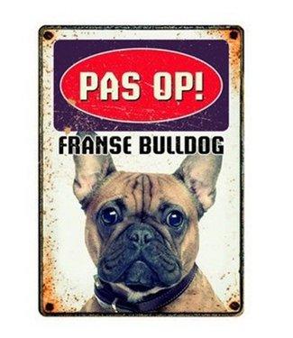 Plenty gifts Plenty gifts waakbord blik franse bulldog