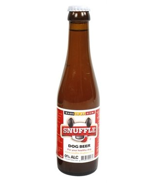 Snuffle Snuffle hondenbier rundsmaak in glazen fles