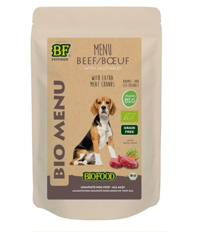 15x biofood organic hond rund menu pouch