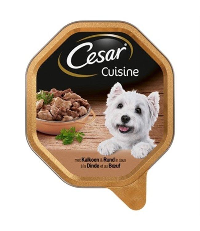 14x cesar alu cuisine kalkoen / rund in saus
