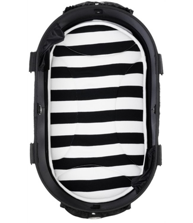 Airbuggy mat voor dome2 m streep zwart / wit