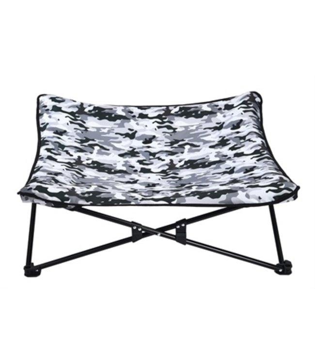 Akp hondenstretcher camouflage grijs