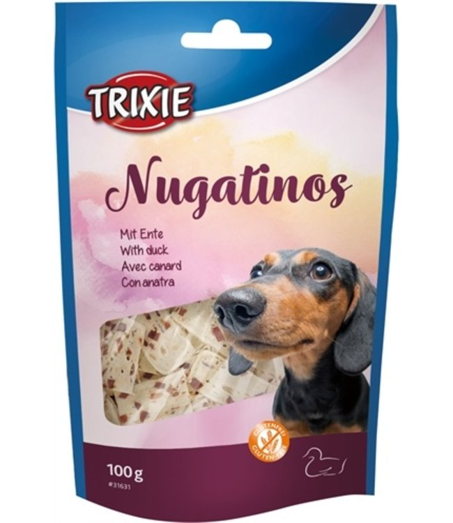 Trixie nugatinos noga hondensnack runderhuid met eend