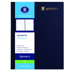 Agenda 2022 Ryam Quintet A4 4kolommen blauw