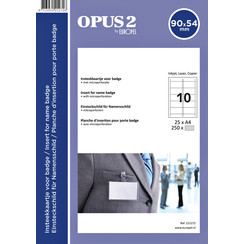 Badgekaart Opus 2 90x54mm 180gr wit