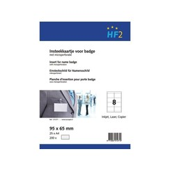 Badgekaart Opus 2 95x65mm 180gr wit