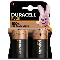 Batterij Duracell Plus 2xD