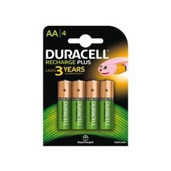 Batterij oplaadbaar Duracell 4xAA 1300mAh Plus