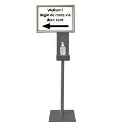Dispenser standaard Blinc 1,5m met A3 kliklijst