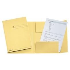 Dossiermap Esselte 275gr 3kleppen geel