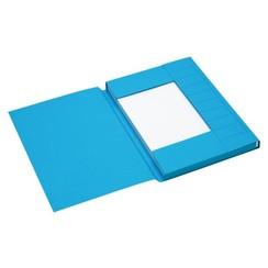 Dossiermap Jalema Secolor A4 3 kleppen 225gr blauw