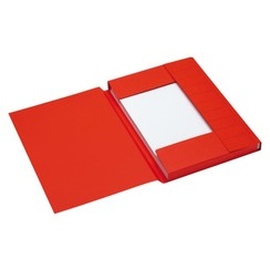 Dossiermap Jalema Secolor A4 3 kleppen 225gr rood