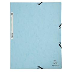 Elastomap Exacompta Aquarel 3-kleps A4 glanskarton blauw
