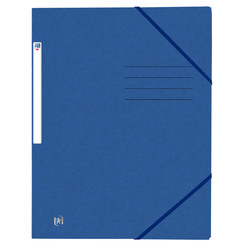 Elastomap Oxford Top File+ A4 blauw