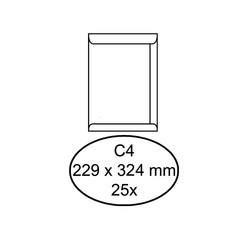 Envelop Quantore akte C4 229x324mm zelfklevend wit 25stuks