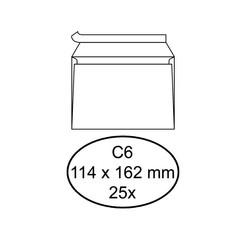Envelop Quantore bank C6 114x162mm zelfklevend wit 25stuks