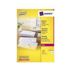 Etiket Avery L7163-100 99.1x38.1mm wit 1400stuks
