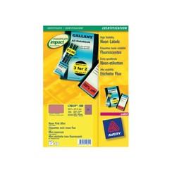 Etiket Avery L7651PF-100 38.1x21.2mm neon roze 6500stuks