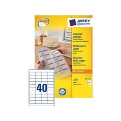 Etiket Avery Zweckform 3657 48.5x25.4mm wit 8000stuks