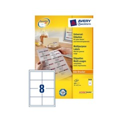 Etiket Avery Zweckform 3660 97x67.7mm wit 800stuks
