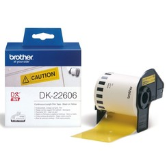 Etiket Brother DK-22606 62mm 15-meter gele film