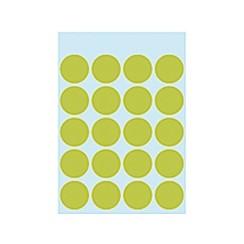 Etiket Herma 1878 rond 19mm fluor groen 100stuks
