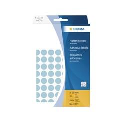 Etiket Herma 2233 rond 13mm blauw 2464stuks