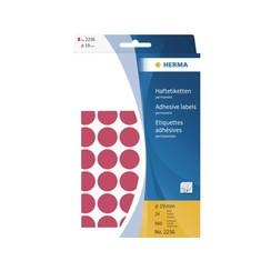 Etiket Herma 2256 rond 19mm fluor rood 960stuks