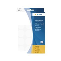Etiket Herma 2270 rond 32mm wit 480stuks