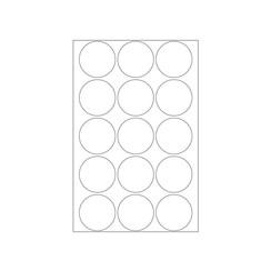Etiket Herma 2277 rond 32mm transparant 240stuks