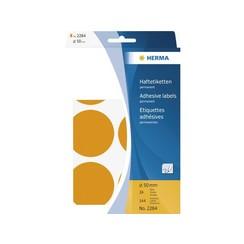 Etiket Herma 2284 rond 50mm fluor oranje 144st