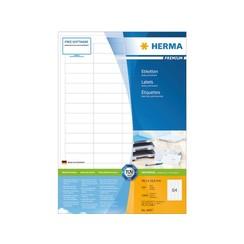 Etiket Herma 4607 48.3x16.9mm premium wit 12800stuks