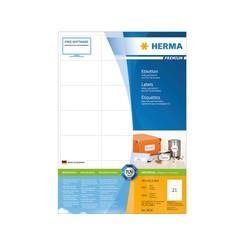 Etiket Herma 4616 70x42.3Mm premium wit 4200stuks