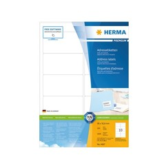 Etiket Herma 4667 96x50.8mm premium wit 1000stuks