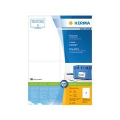 Etiket Herma 4676 105x148mm A6 premium wit 400stuks