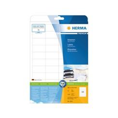 Etiket Herma 5051 48.3x25.4mm premium wit 1100stuks