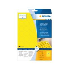 Etiket Herma 8034 30mm rond 1200stuks geel