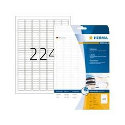 Etiket Herma 8830 25.4x8.5mm mat wit 5600stuks