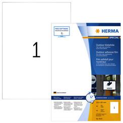 Etiket Herma 9543 210x297mm A4 polyester 40stuks wit