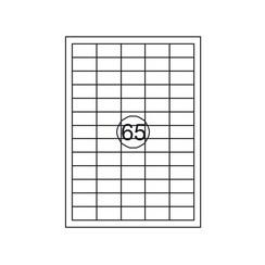 Etiket Quantore 38,1mmx21,2mm 6500stuks