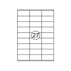 Etiket Quantore 70x32mm 2700stuks