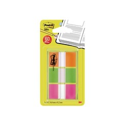 Indextabs 3M Post-it 680OLP 24mmx43.2mm oranje/groen/paars