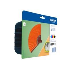 Inktcartridge Brother LC-129XLVALBP zwart + 3 kleuren HC