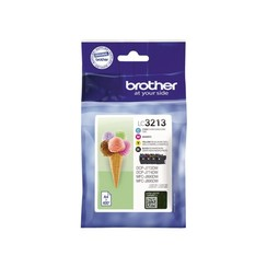 Inktcartridge Brother LC-3213 zwart + 3 kleuren