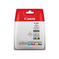 Inktcartridge Canon CLI-571 zwart + 3 kleuren