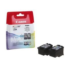 Inktcartridge Canon PG-510 + CL-511 zwart + kleur